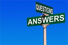 Questions and Answers sign post